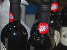 Vinos italianos etiquetados