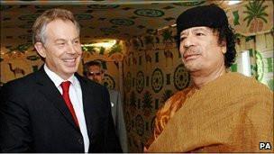 بلير والقذافي