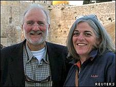 Alan Gross junto a su esposa Judy.