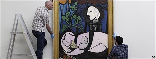 """""""Desnudo, hojas verdes y busto"""", de Pablo Picasso,"""