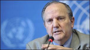 El relator especial de Naciones Unidas sobre Tortura, Tratos Degradantes y Crueles, el argentino Juan Méndez.