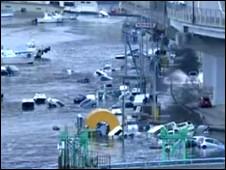 سونامی - تصویر از تلویزیون بی بی سی
