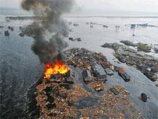 Natori City bị hư hại vì động đất 11/3/2011