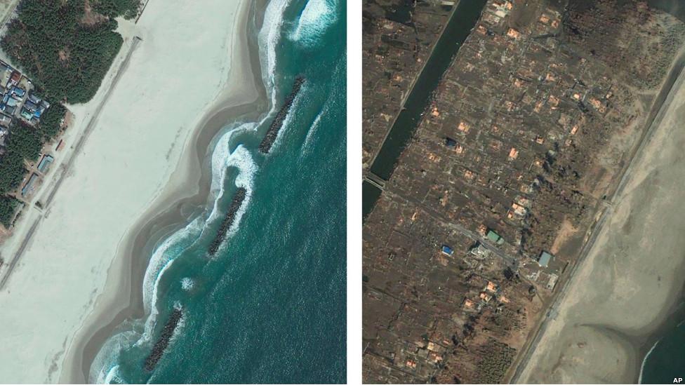 Мияги до и после стихийного бедствия