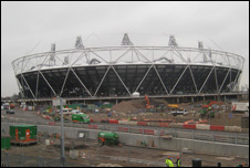 London 2012 Olympic stadium construction site