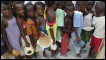 Children displaced by the violence in Ivory Coast
