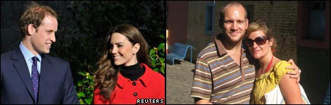 Kate Middleton and Prince William, and David and Jennifer