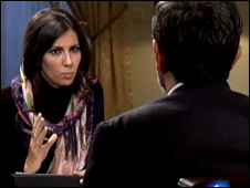 مصاحبه خبرنگار اسپانیایی با احمدی نژاد
