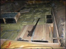 محموله سلاح: عکس از وب سایت ارتش اسرائیل