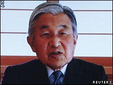 日本天皇发表电视讲话