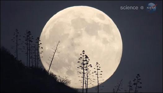La Luna. Cortesía de la NASA