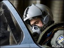 Piloto de un Rafale francés