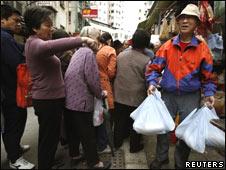 香港人抢购食盐