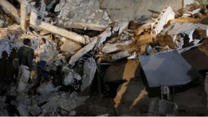 gedung hancur di libia