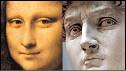 Caras del David y la Mona Lisa