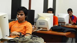 Cibercafé en Cuba