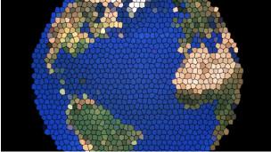 Tierra con efecto digital