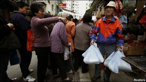 香港人上街抢盐
