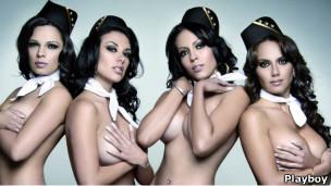 Azafatas en foto de portada de Playboy