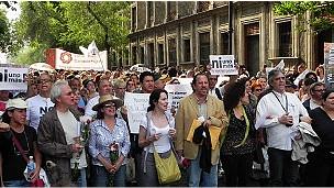 Marcha de protesta en México (fotos Alberto Najar)