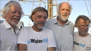 La tripulación del An-Tiki.