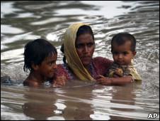Enchentes no Paquistão. | Foto: AP