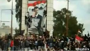 تظاهرکنندگان در درعا خواهان آزادی های بیشتر و برخورد جدی با فساد در این کشور هستند
