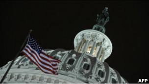 Capitolio de Estados Unidos por la noche