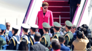 Dilma Rousseff llega a China