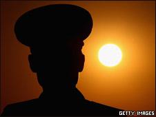 平壤一名朝鲜军人(03/04/2011)