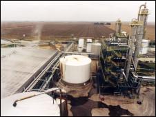 Usina de etanol nos EUA (foto - BBC)