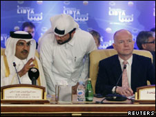 Encontro do grupo de contato em Doha (Foto: Reuters)