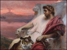 Nerone a Baia, de Jan Styka, que faz parte da mostra dedicada a Nero, em cartaz em Roma