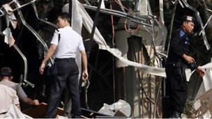 Bom di hotel Marriott Jakarta