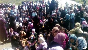زنان معترض در بانیاس