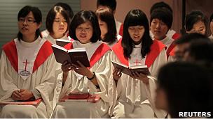 北京守望教会教友聚会(资料图片)