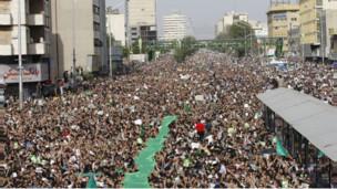 تظاهرات اعتراضی تهران