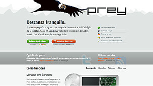 Captura de la web de Prey
