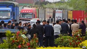 上海货车司机罢工现场(21/04/2011)