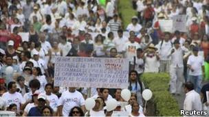 Protestas contra la violencia en México