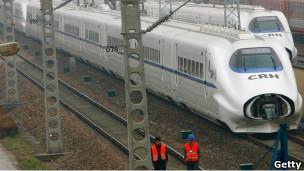上海的高速火车