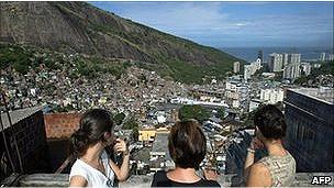 Vista de una favela.