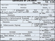 Certidão completa mostra que presidente nasceu em Honolulu, Havaí