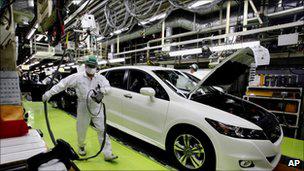 日本汽车制造厂工人