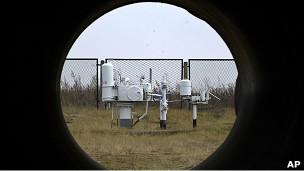 """Вид изнутри трубы """"Газпрома"""""""