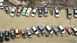 Автостоянка в одном из московских дворов