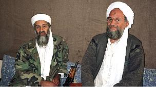 Ayman al-Zawahiri y Osama bin Laden