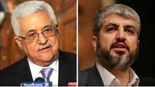 محمود عباس وخالد مشعل