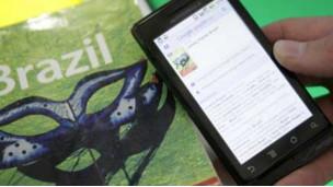 Un teléfono Android con realidad aumentada