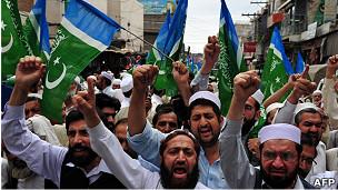 Protesta en Peshawar
